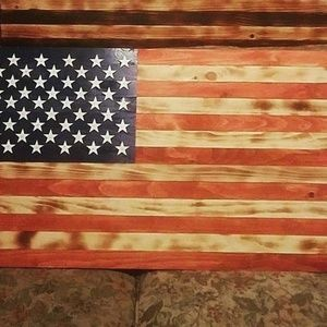 Custom Made Rustic Wooden Flags